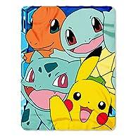 Pokemon, Meet the Group Printed Fleece Throw, 45