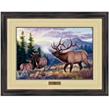 Reflective Art, Bugle Boy, Dark Walnut Framed, 26 by 34-inch