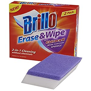 Brillo Erase & Wipe Sponge with Estracell, 2-Count
