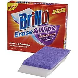 Brillo Erase & Wipe Sponge with Estracell, 2-Count