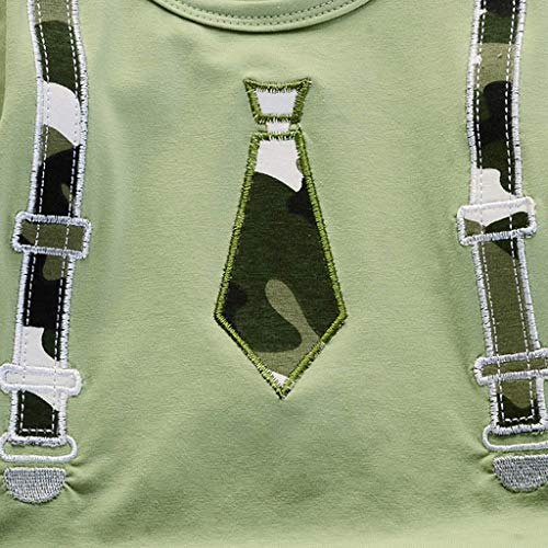 Lavany Toddler Boys Clothes 2pc Short Sleeve Print Tops+Como Shorts Casual Outfits Green by Lavany (Image #3)