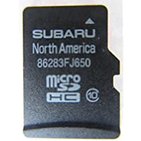 FJ650 2015 2016 SUBARU CROSSTREK IMPEZA WRX FORESTER STI MICRO SD NAVIGATION CARD, MAP FOR NORTH AMERICA, USA / CANADA PART NUMBER 86283FJ650