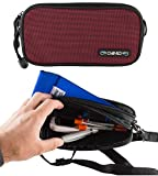 ChillMED Carry-All Diabetic Travel Case Supply Bag (Burgundy) 8.6'' x 4.5'' x 2.5''