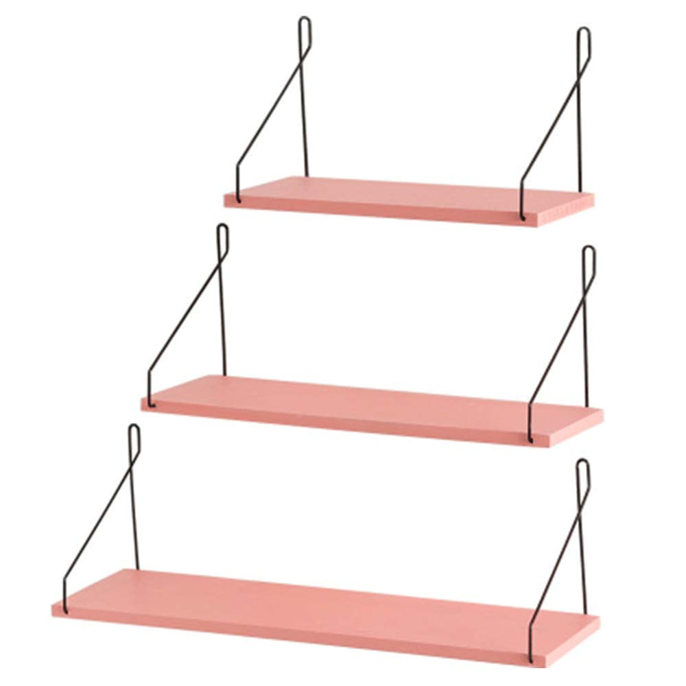 YUNHAO Racks Three-piece Size Set Modern Minimalist Wall Hanging Wall Hanging Wrought Iron Hanging Racks American Country Solid Wood Creative Home Wall Hanging Wall Decoration Wall Decorations Backgro