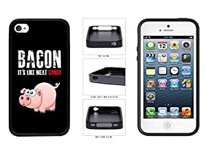 I Love Bacon TPU RUBBER Phone Case Back Cover Apple iPhone 4 4s