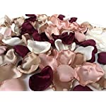 Maroon-blush-pink-ivory-and-champagne-mix-of-100-flower-petals-wedding-decor-rose-petals-artificial-flower-petals