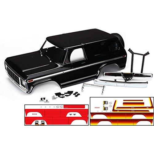 Trim Accessory Chrome Spare Tire (Traxxas TRX-4 Ford Bronco Body 4, Black)