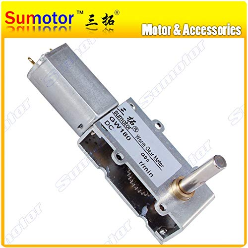 HUDITOOLS Quality | DC Motor | DC 6V 12V Small Micro Worm Gear Motor Low Speed Torque Ultra Thin Slim Gear Box Reversible Electric Engine Robot Lock 1 PCs