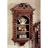 Design Toscano AF2104 Charles II Wall Curio Cabinet