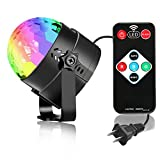 Disco Light Sound Activated Remote Light Party Effects Projector DJ Party 7 Color Crystal Magic Ball Rotating Effect Light