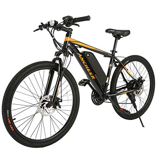 ANCHEER 2019 New 350W Electric Bike Adult Electric Mountain Bike, 26 Electric Bicycle Removable 36V 7.8Ah Lithium-Ion Battery, Professional 21 Speed Gears (Best Electric Bicycle 2019)