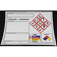 **NEW** GHS Chemical Label OSHA HMIS NFPA Diamond Label Safety Sign 8.5x11 (50 Sheets Tough Vinyl)