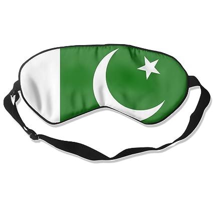 Shi Fu Pakistán Bandera Adultos niños Unisex Dormir Ojos Máscara Cubierta de Seda Natural con Correa