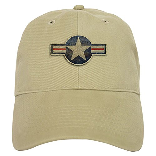 CafePress USAF US Air Force Roundel Cap Baseball Cap with Adjustable Closure, Unique Printed Baseball Hat Khaki ()