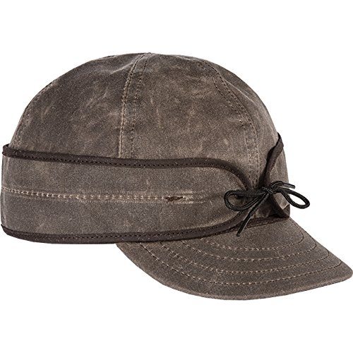 Stormy Kromer Men's Waxed Cotton Cap, Dark Oak,7.625, 7 5/8 (Adult X Large)