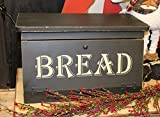 country primitive bread box - Distressed Wooden Stenciled Bread Box Country Kitchen