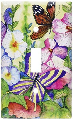 Art Plates - Garden Butterflies Switch Plate - Single Toggle (Art Single Toggle Switch)