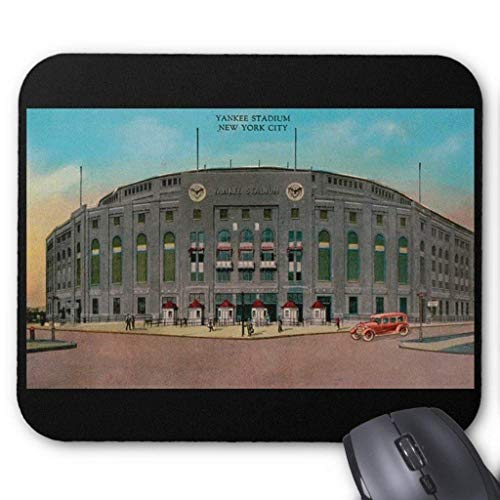 e Mat/Pad,Stitched Edges Printed Mousepad Non-Slip Rubber Yankee Stadium Vintage Postcard Mousepad ()