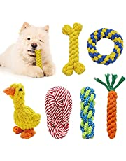 Puppy Toys Dog Rope Toys Dog Toys Aggressive Chewers Play Durable Cotton Ropes Tough Toy 6 Pack Cleaning Teething Pet Toy Small Dogs Health