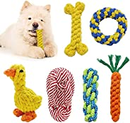 Puppy Toys Dog Rope Toys Dog Toys Aggressive Chewers Play Durable Cotton Ropes Tough Toy 6 Pack Cleaning Teeth