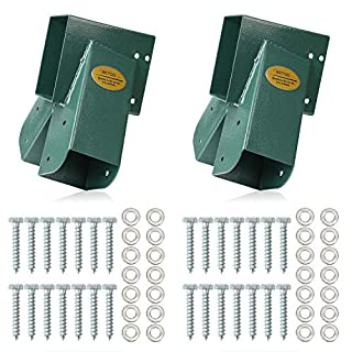 BETOOLL A-Frame 2 Brackets Swing Set Bracket with Mounting Hardware (Green)