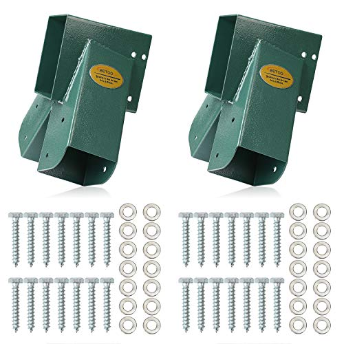 BETOOLL Easy 1-2-3 A-Frame 2 Brackets Swing Set Bracket with Mounting Hardware (Green) (Swing Set Kits)