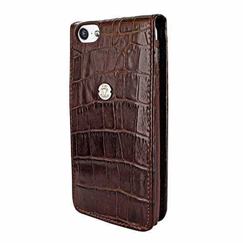 Piel Frama 595 Brown Crocodile Magnetic Leather Case for Apple iPhone 5 / 5S / SE by Piel Frama (Image #2)