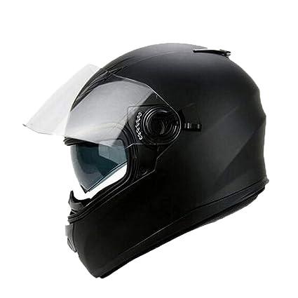 Amazon.es: Adulto Cara Completa Casco de la Motocicleta Doble ...