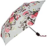 Joules Women s Patterned Umbrella Silver Posy One Size