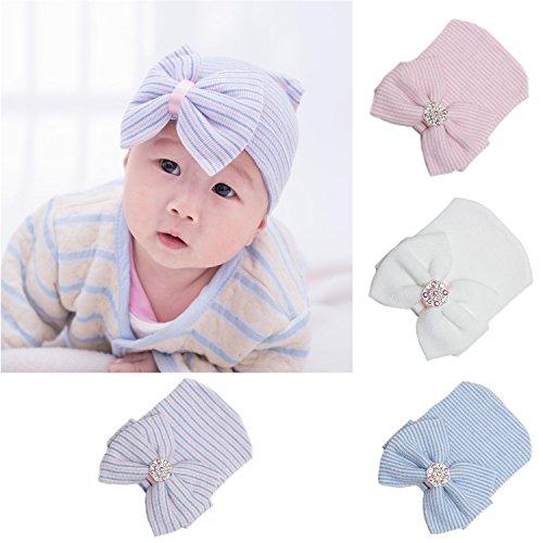 efbb3175f79 Ever Fairy Infant Baby Girls Floral Print Nursery Newborn Hospital Hat Cap  with Big Bow - Buy Online in UAE.