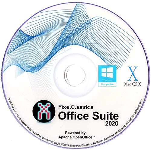 Office Suite 2020 Microsoft Word 2019 2016 2013 2010 2007 365 Compatible Software CD Powered by Apache OpenOfficeTM for PC Windows 10 8.1 8 7 Vista XP 32 64 Bit & Mac OS X - No Yearly Subscription!