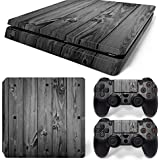 Gam3Gear Vinyl Decal Protective Skin Cover Sticker for PS4 Slim Console & Controller (NOT for PS4 or PS4 Pro) - Gray…