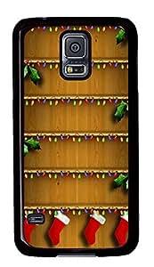 Samsung Galaxy S5 Christmas Shelves Homescreen Holiday134 PC Custom Samsung Galaxy S5 Case Cover Black