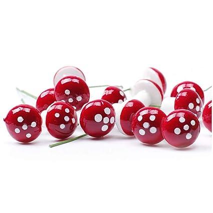 50pcs//set Mini Artificial Berries Flower DIY Craft Home Decor Photographic Props