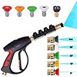 x jet pressure washer - KARCLIN 8609097 3000 PSI High Pressure Washer Gun Water Jet Car Wash Gun,M22 Thread, with 5-color Pressure Water Washer Nozzles