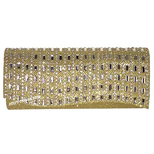 Gold Women Gold 3 Bling Wedding Prom Party Evening Black Clutch Engagement Purse Bag Wocharm Bride Girl Lady Cocktail Silver Pouch Diamante fWfdqTn