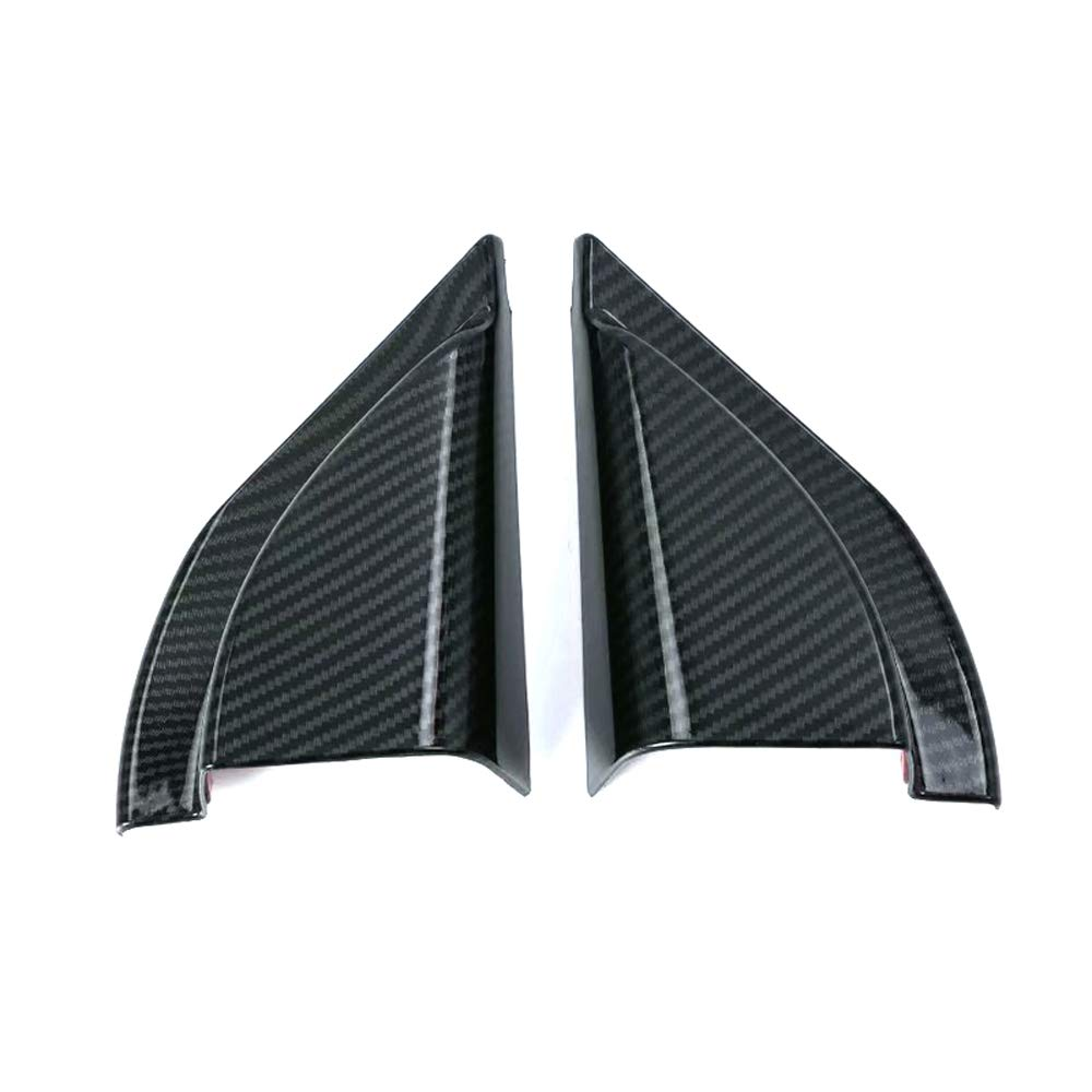 YUZHONGTIAN Car Accessories ABS Carbon Fiber Style Front A Pillar Triangle Cover Trim Frame 2pcs for Mitsubishi Eclipse Cross 2018 2019