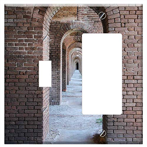 Jeffersons Arch - 1-Toggle 1-Rocker/GFCI Combination Wall Plate Cover - Archway Arch Architecture Fort Jefferson Fort