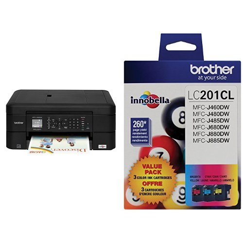 Printer and 3-Pack Ink Bundle by Brother