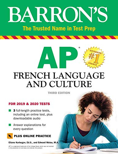 - Barron's AP French Language and Culture with Online Test & Downloadable Audio