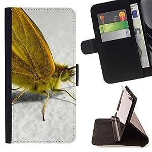 BullDog Case - FOR/Samsung Galaxy A3 / - / Plant Nature Forrest Flower 55 /- Monedero de cuero de la PU Llevar cubierta de la caja con el ID Credit Card Slots Flip funda de cuer