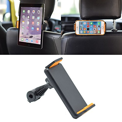 GMSP 360˚ Rotating Car Back Seat Headrest Mount Holder Stand for GPS Tablet 4