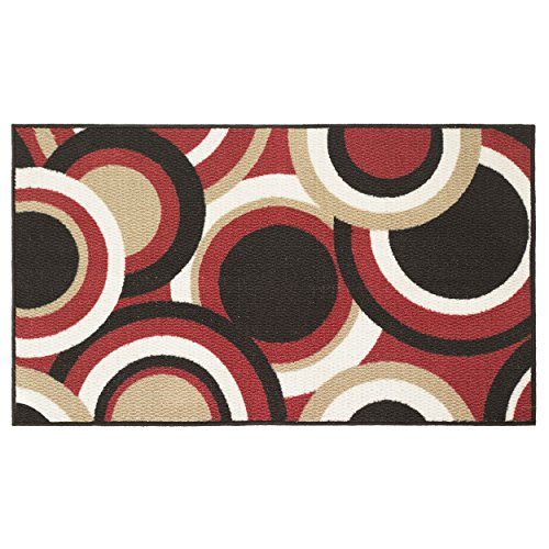 Modern Living Circles Decorative Area Accent Rug, 26 by 45-Inch