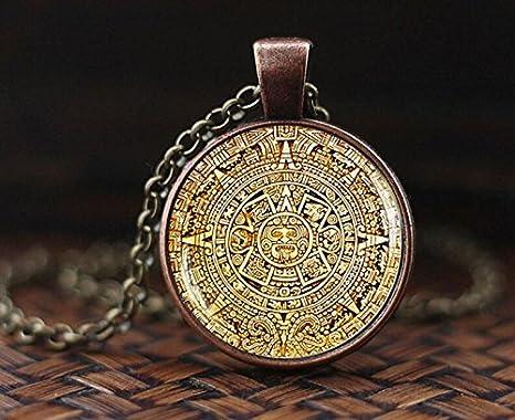 Calendario Maya Nascita.Pendente Calendario Maya Calendario Maya Gioielli Azteca