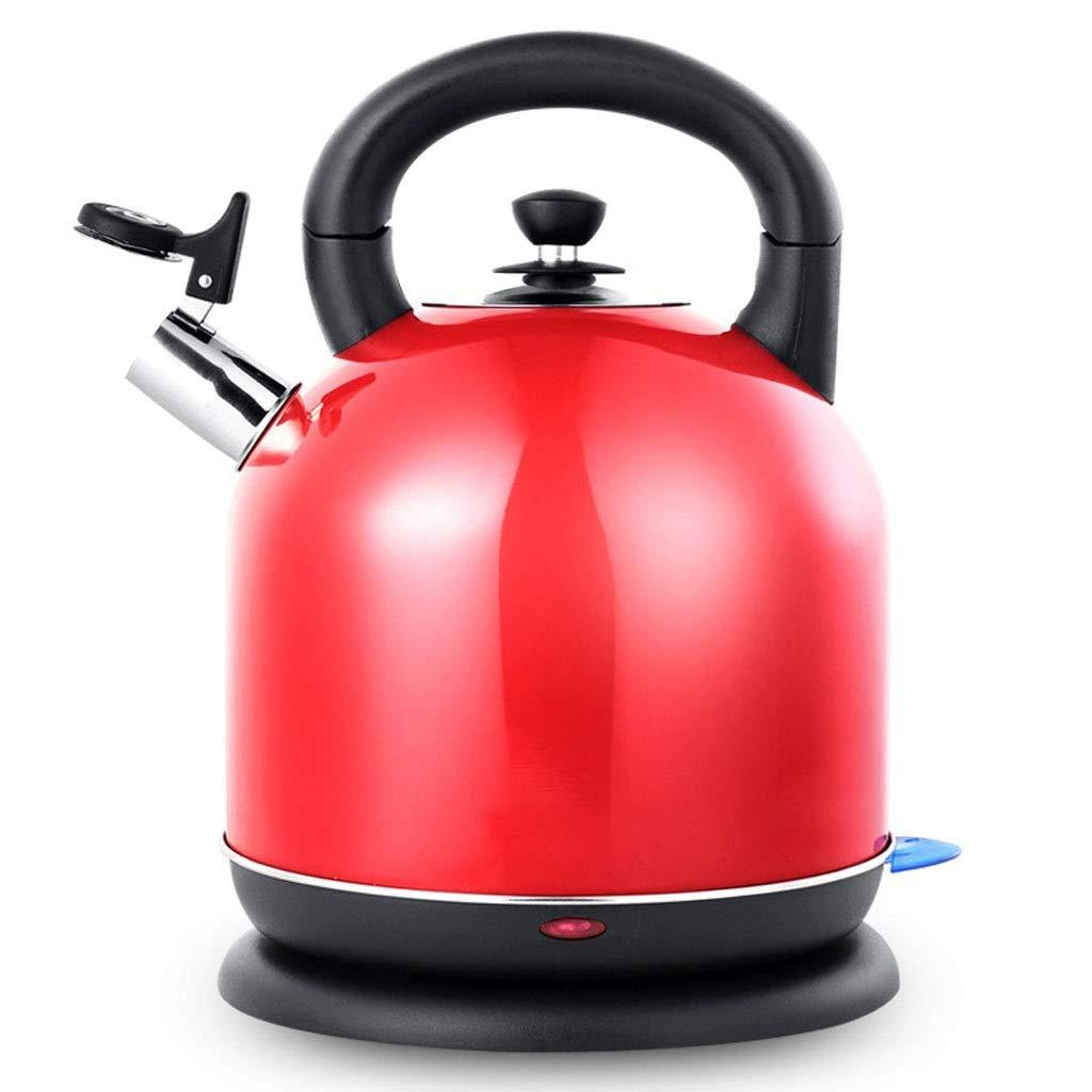 結婚祝い HEMFV 家庭用キッチン5L大容量ステンレス電気湯沸かし器、急速加熱給湯器、自動シャットオフおよび沸騰乾燥防止湯沸かし器 (色 : 赤)  赤 B07QR4KCVC, MOONSHOT 207b8fa0