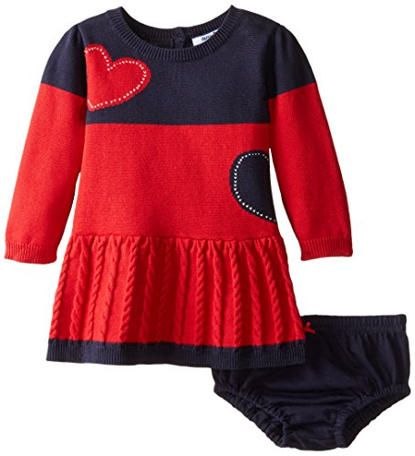 Hartstrings Baby Girls Heart Sweater Dress and Panty Set