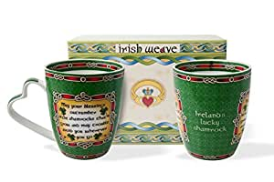 Irish Garden Blessing Mug Set of Two with Gift Box
