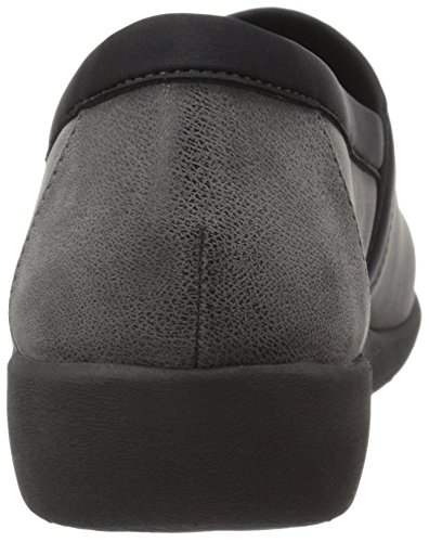 Clarks Womens Cloudsteppers Sillian Blair Slip-on Mocassino In Nabuk Sintetico Grigio