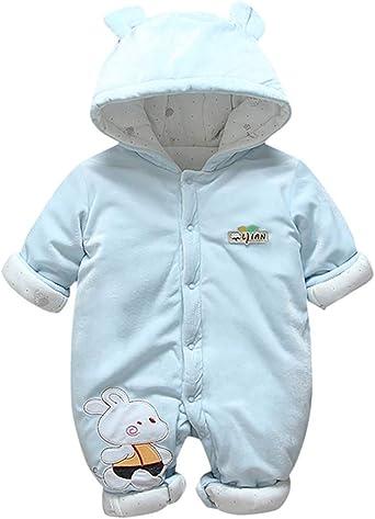 Bebé ReciéN Nacido Engrosamiento Ropa Warmsuit Mono con Botones ...