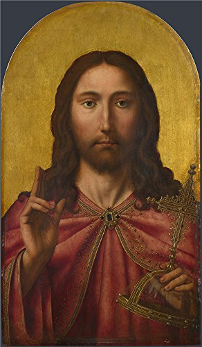 Cabernet Print Robe (Oil Painting 'After Quinten Massys - Christ,about 1500-50', 20 x 34 inch / 51 x 87 cm , on High Definition HD canvas prints is for Gifts And Game Room, Hallway And Powder Room Decoration)